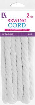 "EBL Cable Cord 1/2"" 2yd White"