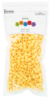 Essentials By Leisure Arts Bead Pony 6mm x 9mm Pastel Yellow 750pc