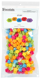 Essentials By Leisure Arts Bead Star Bead 12mm Mix 225pc