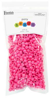 Essentials By Leisure Arts Bead Pony 6mm x 9mm Aurora Borealis Pink 750pc