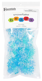 Essentials By Leisure Arts Bead Snowflake Bead 18mm Ice Mix 200pc
