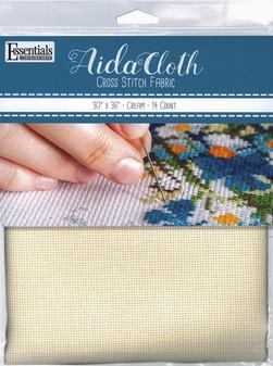 "Essentials By Leisure Arts Aida Cloth 14ct 30""x 36"" Cream"