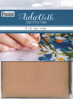 "Essentials By Leisure Arts Aida Cloth 14ct 30x 36"" Beige"
