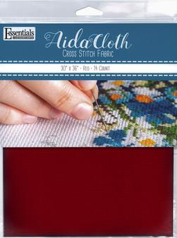 "Essentials By Leisure Arts Aida Cloth 14ct 30x 36"" Red"