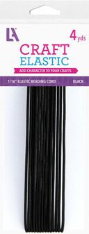 "EBL Elastic Beading Cord 1/16"" 4yd Blk"