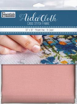 "Essentials By Leisure Arts Aida Cloth 14ct 30x 36"" Medium Pink"
