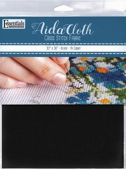 "Essentials By Leisure Arts Aida Cloth 14ct 30x 36"" Black"