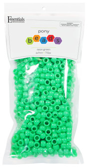Essentials By Leisure Arts Bead Pony 6mm x 9mm Neon Green 750pc
