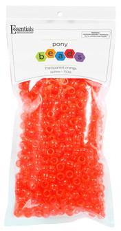 Essentials By Leisure Arts Bead Pony 6mm x 9mm Transparent Orange 750pc