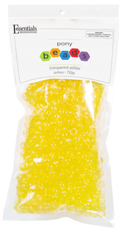Essentials By Leisure Arts Bead Pony 6mm x 9mm Transparent Yellow 750pc
