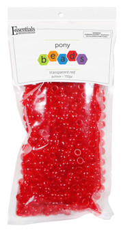 Essentials By Leisure Arts Bead Pony 6mm x 9mm Transparent Red 750pc