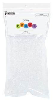 Essentials By Leisure Arts Bead Pony 6mm x 9mm Transparent Clear 750pc