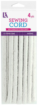 "EBL Cotton Piping Cord 1/4"" 4yd Nat"