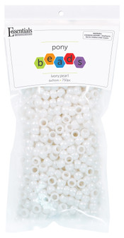 Essentials By Leisure Arts Bead Pony 6mm x 9mm Pearl Ivory 750pc