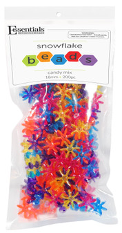 Essentials By Leisure Arts Bead Snowflake Bead 18mm Candy Mix 200pc