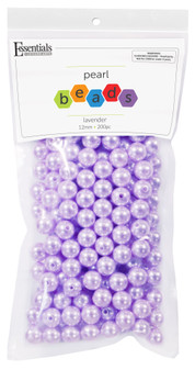 Essentials By Leisure Arts Bead Pearls Plastic 12mm Lavender 200pc