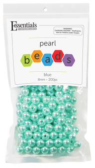 Essentials By Leisure Arts Bead Pearls Plastic 8mm Blue 200pc