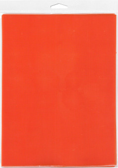 "Essentials By Leisure Arts Plastic Canvas 14ct 8.25""x 11"" Orange 6pc"