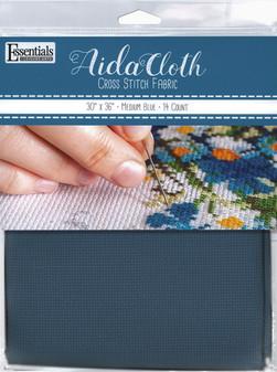 """Essentials By Leisure Arts Aida Cloth 14ct 30""""x 36"""" Medium Blue"""