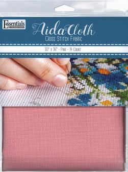"Essentials By Leisure Arts Aida Cloth 14ct 30x 36"" Pink"