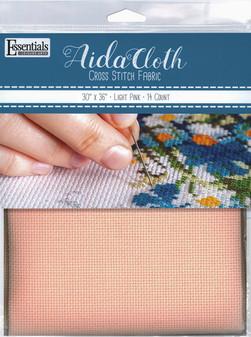"Essentials By Leisure Arts Aida Cloth 14ct 30x 36"" Light Pink"