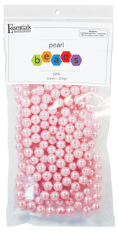 Essentials By Leisure Arts Bead Pearls Plastic 10mm Pink 200pc