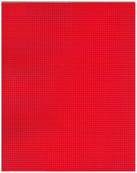 """Essentials By Leisure Arts Plastic Canvas 7ct 10.63""""x 13.5"""" Red 6pc"""