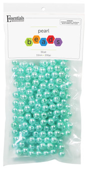 Essentials By Leisure Arts Bead Pearls Plastic 10mm Blue 200pc