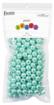 Essentials By Leisure Arts Bead Pearls Plastic 12mm Blue 200pc