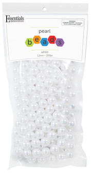 Essentials By Leisure Arts Bead Pearls Plastic 12mm White 200pc