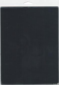 "Essentials By Leisure Arts Plastic Canvas 14ct 8.25""x 11"" Black 6pc"