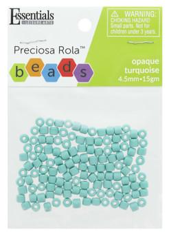 Essentials By Leisure Arts Bead Preciosa Rola 4.5mm Opaque Turquoise 15gm
