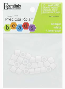 Essentials By Leisure Arts Bead Preciosa Rola 7.7mm Opaque White 15gm