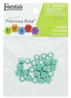 Essentials By Leisure Arts Bead Preciosa Rola 7.7mm Opaque Turquoise 15gm