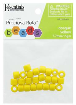 Essentials By Leisure Arts Bead Preciosa Rola 7.7mm Opaque Yellow 15gm