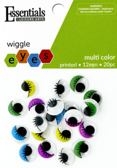 Essentials By Leisure Arts Eye Printed Moveable 12mm Multi 20pc