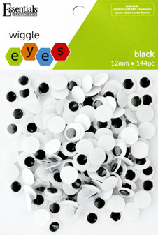 Essentials By Leisure Arts Eye Paste On Movable 12mm Black 144pc