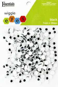 Essentials By Leisure Arts Eye Paste On Moveable 7mm Black 286pc