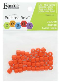 Essentials By Leisure Arts Bead Preciosa Rola 6.2mm Opaque Orange 15gm