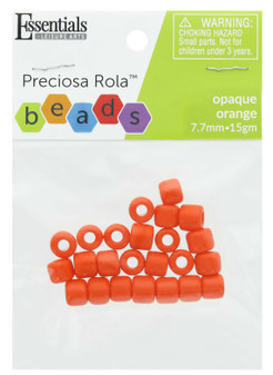 Essentials By Leisure Arts Bead Preciosa Rola 7.7mm Opaque Orange 15gm