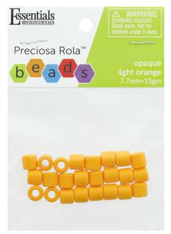 Essentials By Leisure Arts Bead Preciosa Rola 7.7mm Opaque Light Orange 15gm