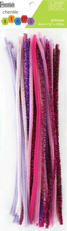 """Essentials By Leisure Arts Chenille 12"""" Stem 6mm Princess Assorted 100pc"""