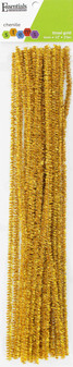 """Essentials By Leisure Arts Chenille 12"""" Stem 6mm Tinsel Gold 25pc"""