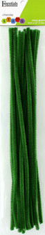 """Essentials By Leisure Arts Chenille 12"""" Stem 6mm Moss Green 25pc"""