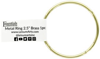 "Essentials By Leisure Arts Metal Ring 2.5"" Brass"