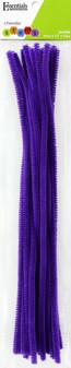 "Essentials By Leisure Arts Chenille 12"" Stem 6mm Purple 25pc"