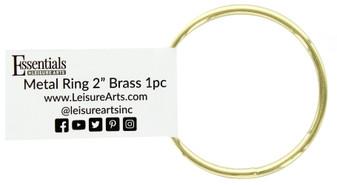 "Essentials By Leisure Arts Metal Ring 2"" Brass"