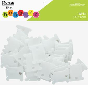 Essentials By Leisure Arts Basics Floss Bobbins Plastic Package 100pc