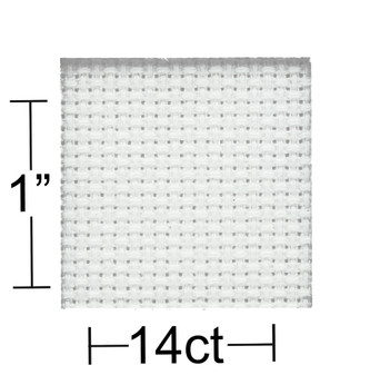 "Essentials By Leisure Arts Aida Cloth 14ct 30""x 36"" White"