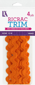 "EBL Ric Rac 1/2"" 4yd Orange"